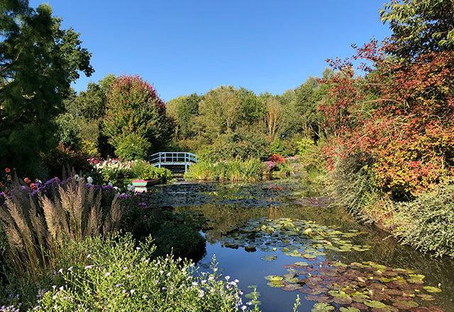 Der Garten des Künstlers A. van Beek ein romantischer neuer Monetgarten