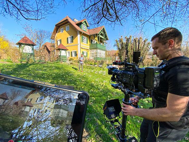 TV-Dreh im Garten Ploberger