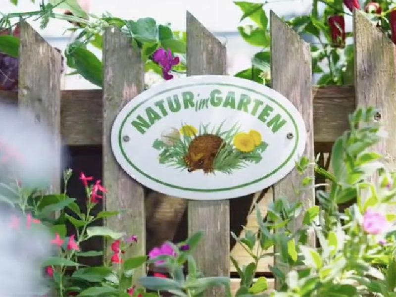 Natur im Garten - Plakette